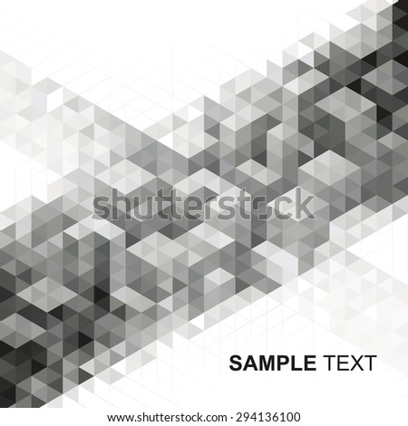Abstract modern geometric urban design background.  - stock vector