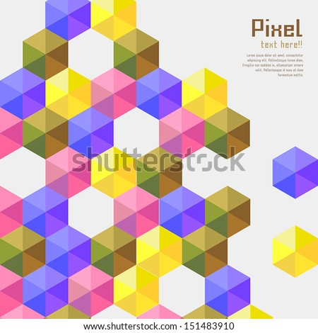 abstract modern pixel background. design modern template can be used for brochure, banners or website layout vector.