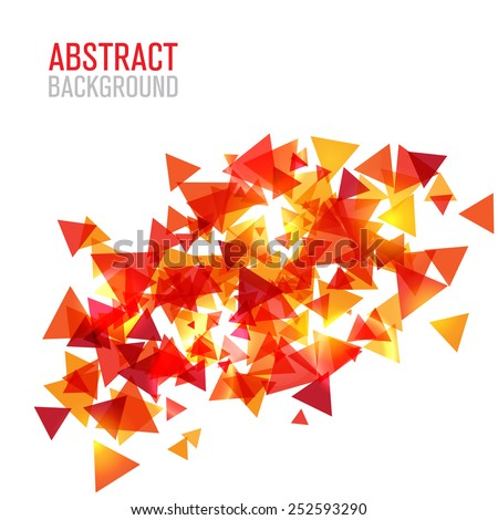 Abstract modern poligonal background for brochure and covers, made with geometrical shapes to use for posters, book cover, flyer and advertisement material - stock vector