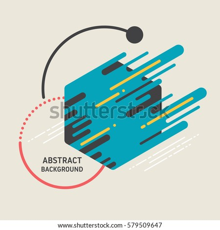 Abstract modern retro background, geometric futuristic shapes, can be used for wallpaper, template, poster, backdrop, book cover, brochure, leaflet, flyer, vector illustration