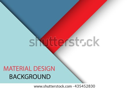 Abstract modern shape material design style. Material design for background or wallpaper. Eps10 vector illustration.