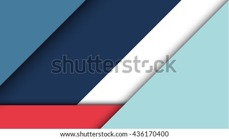 Abstract modern shape material design style. Material design for background or wallpaper. Eps10 vector illustration.  - stock vector