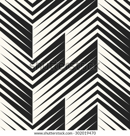 Abstract modern shapes textured background. Zigzag motif. Seamless pattern. - stock vector