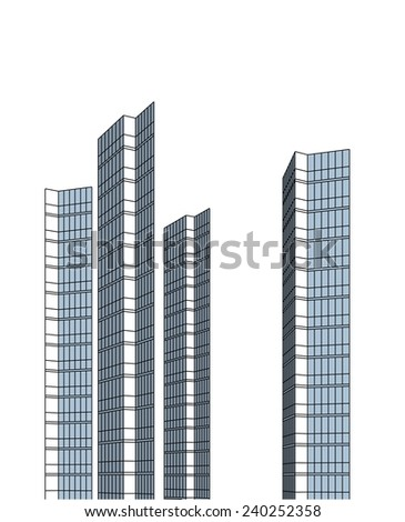 abstract modern skyscraper buildings