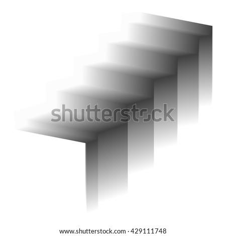 Abstract modern staircase 3d. Vector illustration. - stock vector