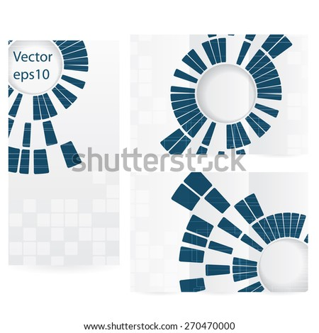 Abstract modern technology brochure template background - stock vector