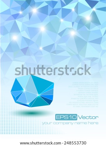 Abstract modern technology composition. Vector illustration - stock vector