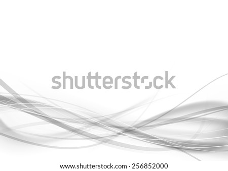 Abstract modern transparent gray certificate design with swoosh speed lines. Vector illustration - stock vector