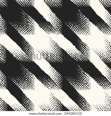 Abstract modern twisted houndstooth check seamless pattern. - stock vector