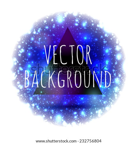 Abstract modern vector background with circle in the center with lights flickering and bokeh - stock vector