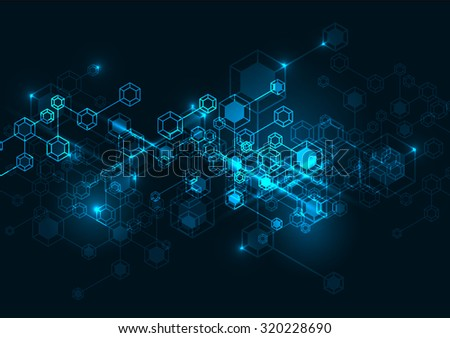 Abstract molecular background. Molecule background. - stock vector