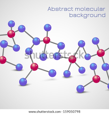 Abstract molecular background. Vector illustration - stock vector