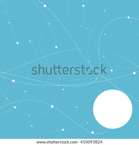 Abstract molecular connection. Technology connection. Connection of cells. - stock vector