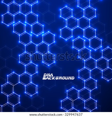 Abstract molecular structures. Technology background. Vector illustration. Eps 10