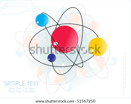 abstract molecule background, illustration - stock vector