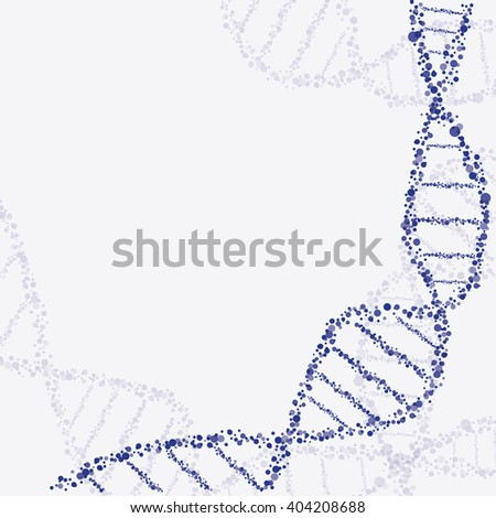 Abstract molecule connection. Dna molecule structure.  Molecule particles background - stock vector