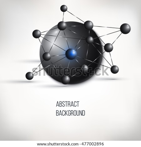 Abstract molecule design atom structure vector stock vector abstract molecule design atom structure vector background for medicine science technology ccuart Gallery
