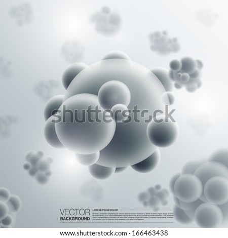 Abstract molecules design background vector - stock vector