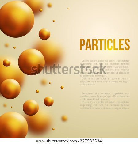 Abstract molecules design. Vector illustration. Atoms. Machine oil drops. Technology and scientific backdrop. - stock vector