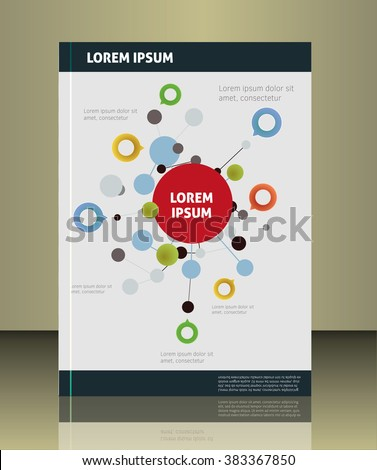 Abstract molecules design. Vector illustration. Infographic elements. - stock vector