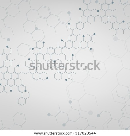 Abstract molecules or medical background. Vector illustration. - stock vector
