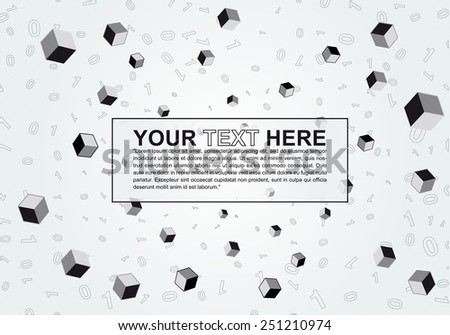 Abstract monochromatic internet design with copy space - stock vector