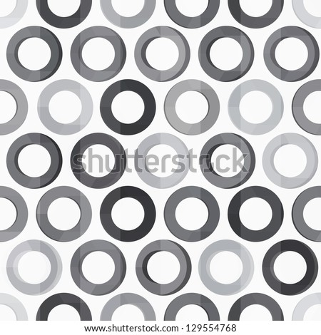 abstract monochrome circle seamless texture - stock vector