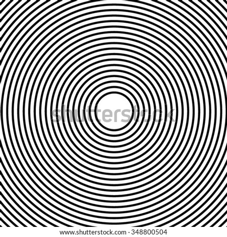 Abstract monochrome graphic with circular, circle pattern. - stock vector