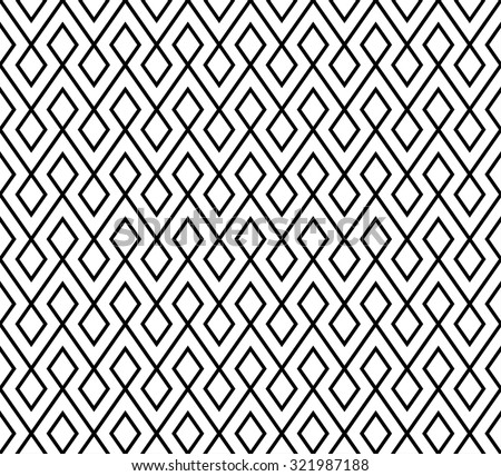 abstract monochrome zigzag and rhombus pattern background vector - stock vector