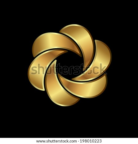 Abstract Moon Shape Symbol Concept Luxury Stock Vector 2018