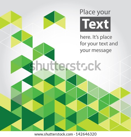 Abstract mosaic background. Green cubic geometric background. Design elements. Layered file - stock vector