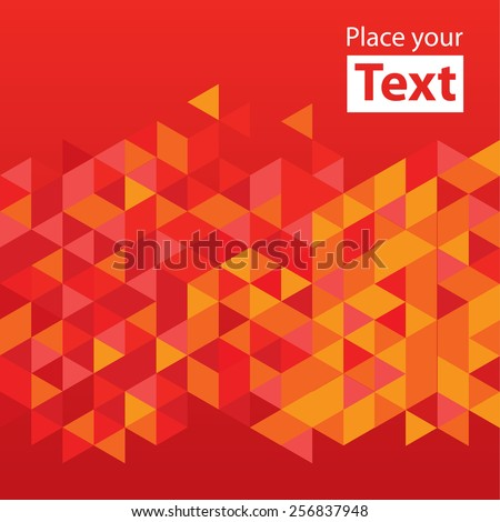 Abstract mosaic background. Red cubic geometric background. Design elements. Layered file - stock vector