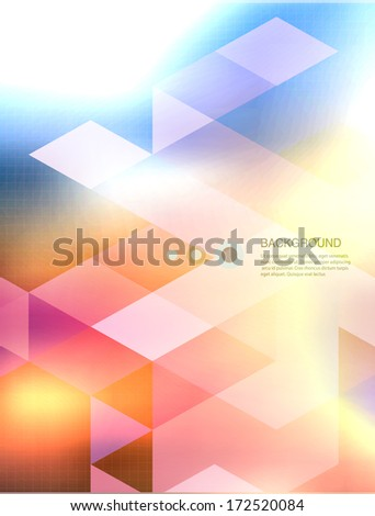 Abstract mosaic background. Shadows and blur background - stock vector