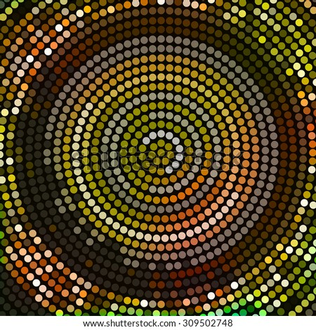 Abstract mosaic background with round shapes. EPS10