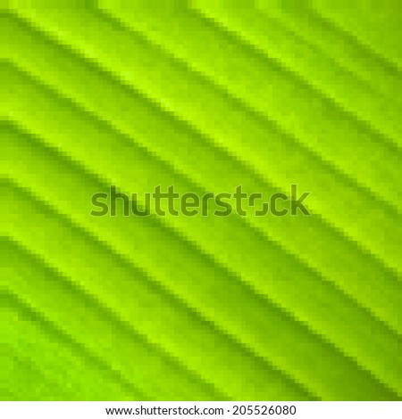 Abstract mosaic colorful banana leaf macro background. Modern design. Vector illustration. - stock vector