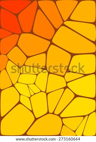 abstract mosaic composition with ceramic geometric shapes for your design  - stock vector