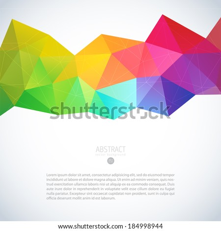 Abstract mosaic geometric colorful background  - stock vector