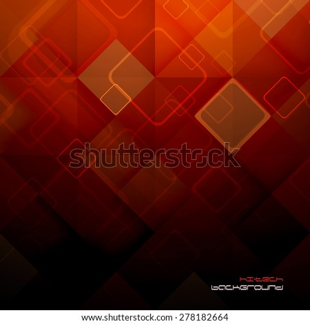 Abstract mosaic hi-tech background. Vector. Clip-art - stock vector