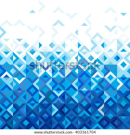 Abstract mosaic mix geometric pattern design, colorful tone of color gradation below to top part, vector illustration - stock vector