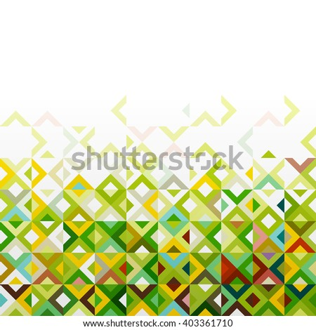 Abstract mosaic mix geometric pattern design, colorful tone on below part, vector illustration - stock vector