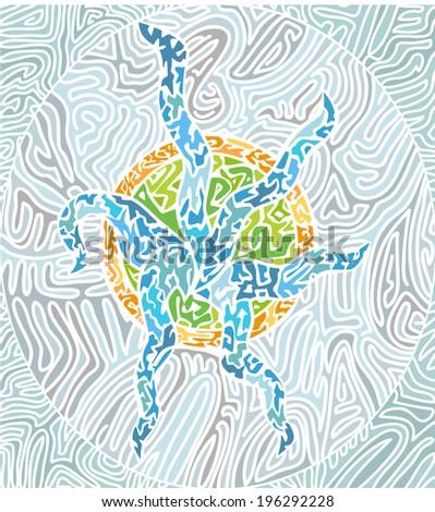 abstract mosaic pattern. Vector version - stock vector