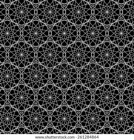 Abstract mosaic spirograph pattern. Vector illustration. - stock vector