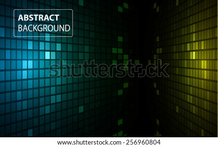 abstract mosaic yellow blue background with gloss. table. Technology background set for computer graphic website internet and business. text box. Brochure. card. - stock vector