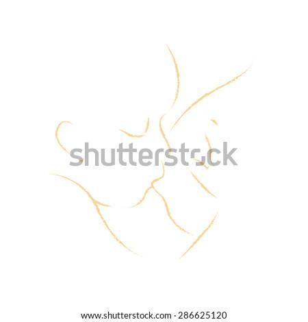 abstract mother nursing baby vector - stock vector