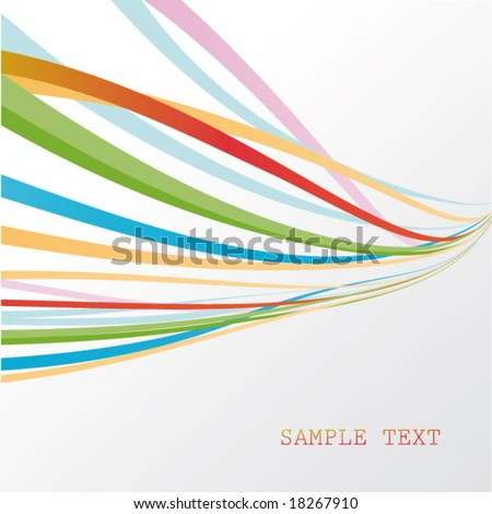 abstract motion background - stock vector