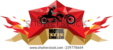 abstract motorcycle emblem - stock vector