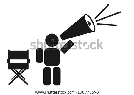 abstract movie director icon - stock vector