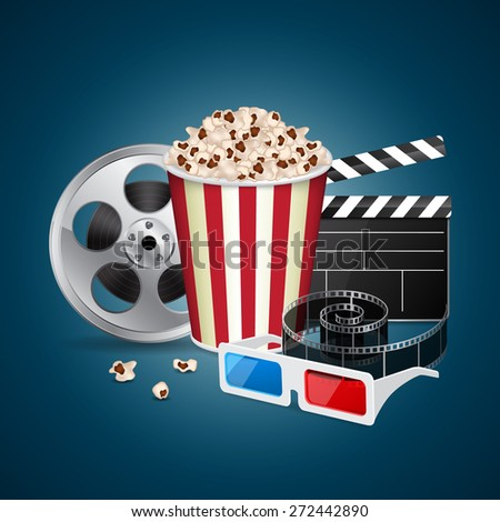 Abstract movie template. Cinema concept. EPS10 vector