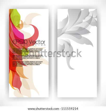 abstract multicolor foliage illustration. eps10 vector format - stock vector