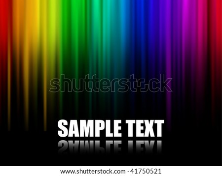 Abstract Multicolor Stripes Background (Vector) - stock vector